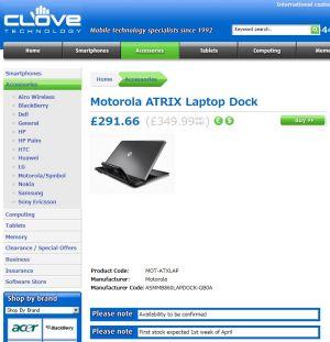 ATRIX 4G Laptop Dock