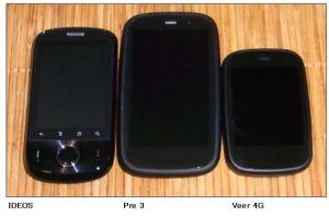 HP Veer 4G 大きさ比較