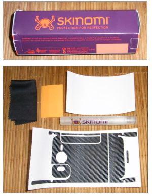 Desire HD Skinomi carbon Fiber Skin