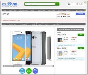 HTC 10 Clove